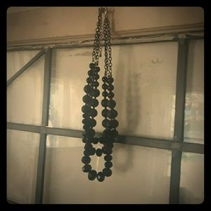 Stunning black and grey necklace